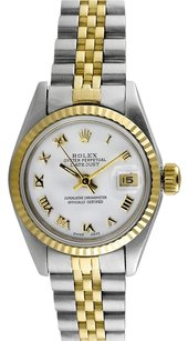 Rolex Rolex Datejust 18K/SS White Dial Ladies' Watch