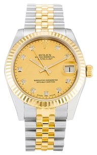 Rolex ROLEX DATEJUST 178273 CUSTOM DIAMOND UNISEX WATCH