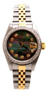 Rolex Rolex DateJust Steel and 18K Yellow Gold Custom Diamond Ladies Watch