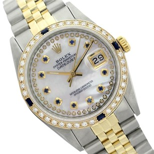 Rolex Rolex Datejust 69173 String MOP with Diamonds and Sapphire Watch