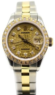 Rolex Rolex Datejust 79163 18k/SS Jubilee Diamond dial & Custom Diamond bezel Ladies Watch