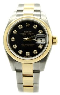 Rolex Rolex Datejust Stainless Steel and 18K Yellow Gold Custom Diamond Ladies Watch