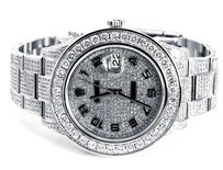 Rolex Rolex Datejust II Stainless Steel Custom Diamonds Men's Watch