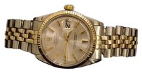 Rolex Rolex Datejust Men 2tone 14k Gold Stainless Steel Watch Silver Jubilee Band 1601