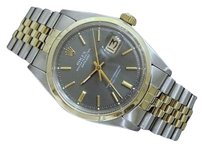 Rolex Rolex Datejust Mens 2tone 14k Gold Stainless Steel Watch Jubilee Slate Gray 1601
