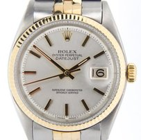 Rolex Rolex Datejust Mens 2tone 14k Yellow Gold Stainless Steel Jubilee Silver 1601