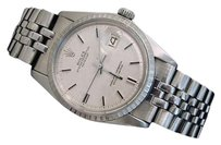 Rolex Rolex Datejust Mens Stainless Steel Watch Silver Linen Dial Jubilee Band 1603