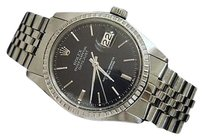 Rolex Rolex Datejust Mens Stainless Steel Watch With Black Dial And Jubilee Band 1603