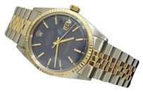 Rolex Rolex Datejust Mens Two-tone 14k Gold Stainless Steel Jubilee W Blue Dial 1601