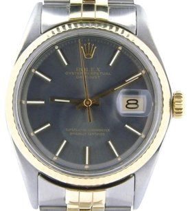 Rolex Rolex Datejust Mens Two-tone 14k Gold Stainless Steel Jubilee W Slate Dial 1601