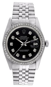 Rolex Rolex Datejust Stainless Steel Custom Diamond Bezel & Dial Men's Watch