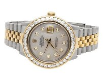 Rolex Rolex Datejust Tone 18k Gold 36mm Stainless Steel Jubilee Diamond Watch Ct
