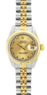 Rolex Rolex DateJust Two-Tone Champagne Arabic Dial Watch 69173