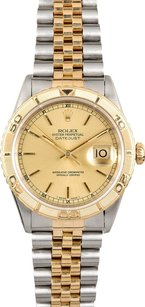 Rolex Rolex DateJust Two-Tone Champagne Thunderbird Watch 16263