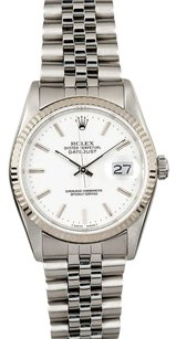 Rolex Rolex Datejust White Dial Stainless Steel Watch 16234