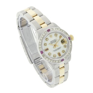Rolex Rolex Datejust White MOP Ruby Diamond Oyster Band Two Tone Watch 26mm
