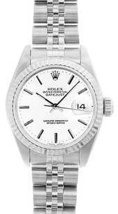 Rolex Rolex DateJust White Stick Dial Stainless Steel Watch 69174