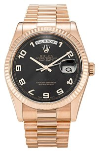 Rolex ROLEX DAY-DATE 118235 18K ROSE GOLD MEN'S PRESIDENTIAL WATCH