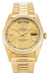 Rolex ROLEX DAY-DATE 18K GOLD 18238 MEN'S WATCH