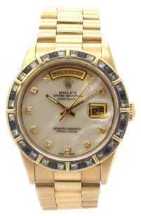 Rolex Rolex Day-Date 18K Yellow Gold Custom Diamond & Sapphire Presidential Men's Watch