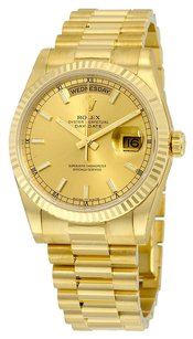 Rolex Rolex Day-Date Champagne Dial 18K Yellow Gold President Automatic Men's President Watch 118238