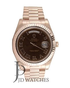 Rolex Rolex Day Date Ii President - Rose Gold - Brown Dial - 218235 Wrist Watch