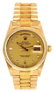 Rolex Rolex Day Date 18K Yellow Gold Custom Diamond Men's Presidential Watch