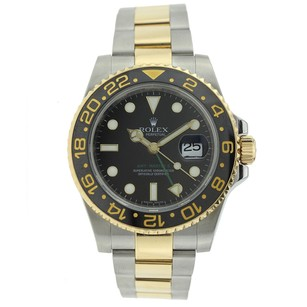 Rolex Rolex Gmt-master Ii 116713ln Wrist Watch For Men - Steel Gold Bracelet