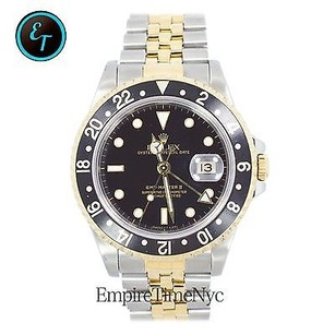 Rolex Rolex Gmt-master Ii 16713 Date 2tone 18k Gold Stainless Steel Jubilee Band Men