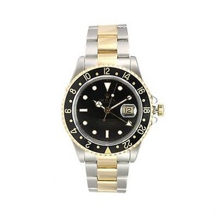 Rolex Rolex Gmt Master Ii 18k Yellow Gold Stainless Steel Watch 16713 Beautiful