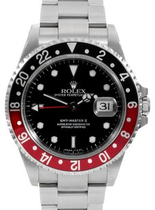 Rolex Rolex GMT Master Stainless Steel Black Dial Men's Watch