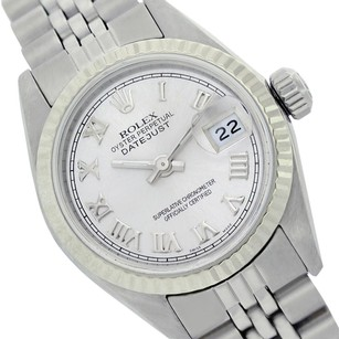 Rolex Rolex Ladies Datejust 6917 Silver Roman Numeral Dial Fluted Watch