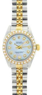 Rolex Rolex Ladies Two-Tone No Date Diamond Mother of Pearl Watch 67193