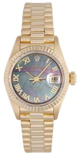 Rolex Rolex Datejust 18K Yellow Gold Ladies Presidential Watch