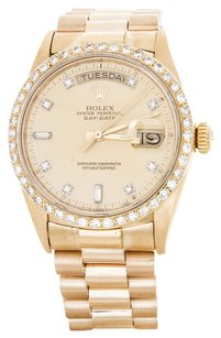 Rolex Rolex Men's 18K Yellow Gold Diamond Day-Date President Watch