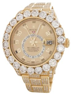 Rolex Rolex Men's 18k Yellow Gold Diamond Sky-Dweller Watch 326938