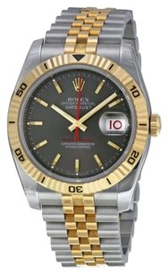 Rolex Rolex Men's Datejust Grey Dial Turn-o-Graph Bezel Watch 116263
