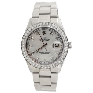 Rolex Rolex Men's DateJust Stainless Steel White Mop Diamond Watch 16014