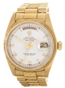 Rolex Rolex Men's Day-Date President Yellow Gold White Roman Watch 116234