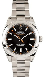 Rolex Rolex Milgauss Black Dial Watch 116400