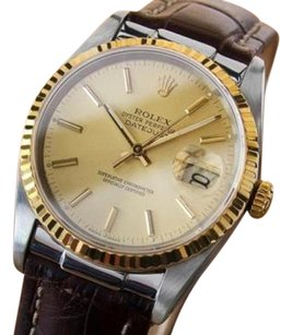 Rolex Rolex Model 16233 18k Ss Luxury Mens 1991 Watch With Sapphire Crystal 332