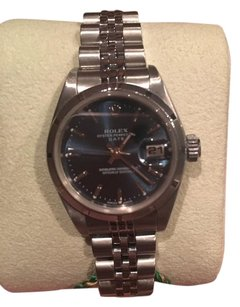 Rolex ROLEX Oyster Perpetual DateJust Blue Dial Stainless Steel Watch 28mm