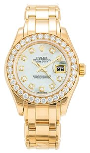 Rolex ROLEX PEARLMASTER 80298 ORIGINAL DIAMOND LADIES WATCH