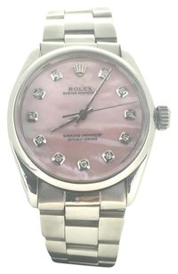 Rolex Rolex Pink Pearl Oyster Perpetual 36mm Stainless Steel Diamond Dial
