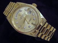 Rolex Rolex Solid 18k Yellow Gold Day Date President Watch Champagne 82 Diamond 1803