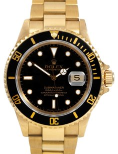 Rolex Rolex Submariner 18K Yellow Gold Black Dial Men's Watch