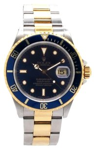 Rolex Rolex 16803 Submariner 18K Yellow Gold and Stainless Steel Blue Dial Men's Watch