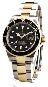 Rolex Rolex Submariner Date 2tone 18kstainless Steel Watch Black 16613t