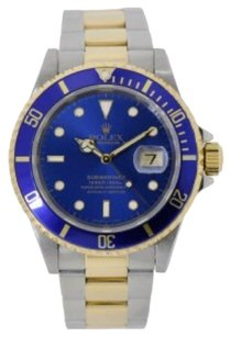 Rolex Rolex Submariner Steel & Yellow Gold Watch Blue Dial 16613
