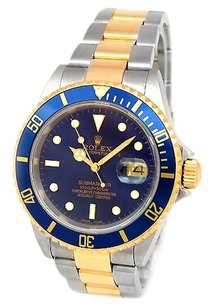 Rolex Rolex Submariner Two-Tone Stainless Steel & Gold Watch 16613